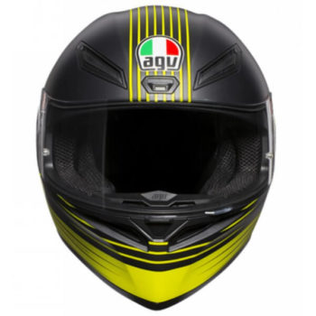 AGV K 1 Top Edge 46 Matt Black Yellow Full Face Helmet 2