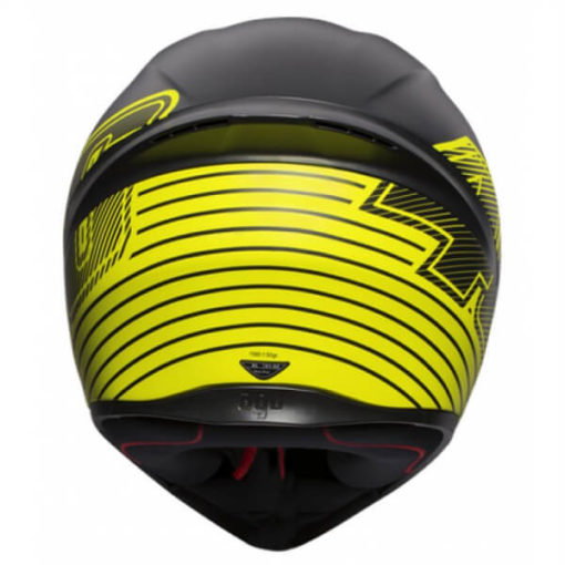 AGV K 1 Top Edge 46 Matt Black Yellow Full Face Helmet 3