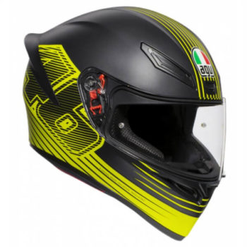 AGV K 1 Top Edge 46 Matt Black Yellow Full Face Helmet