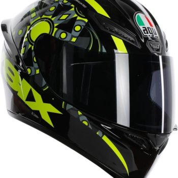 AGV K 1 Top Flavum 46 Gloss Fluorescent Yellow Black Full Face Helmet side