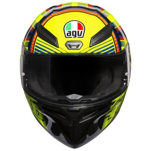 AGV K 1 Top Soleluna Gloss Fluorescent Yellow Black Full Face Helmet