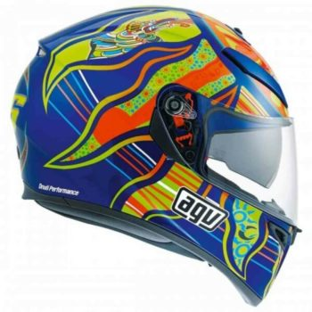AGV K 3 SV Top PLK Five Continents Gloss Blue Orange Full Face Helmet 2