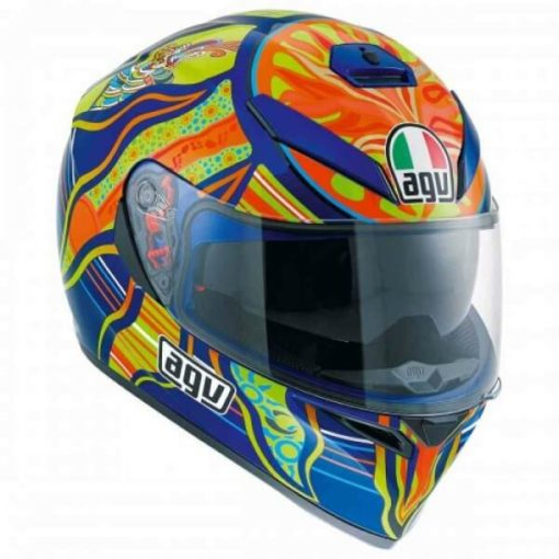 AGV K 3 SV Top PLK Five Continents Gloss Blue Orange Full Face Helmet
