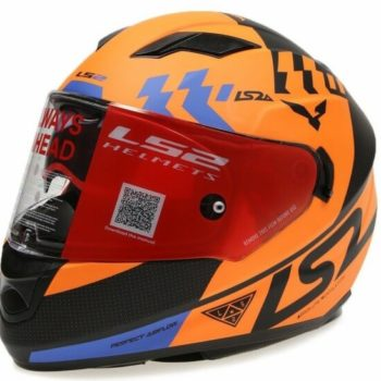 LS2 FF320 PODIUM MATT BLACK ORANGE full face helmet side