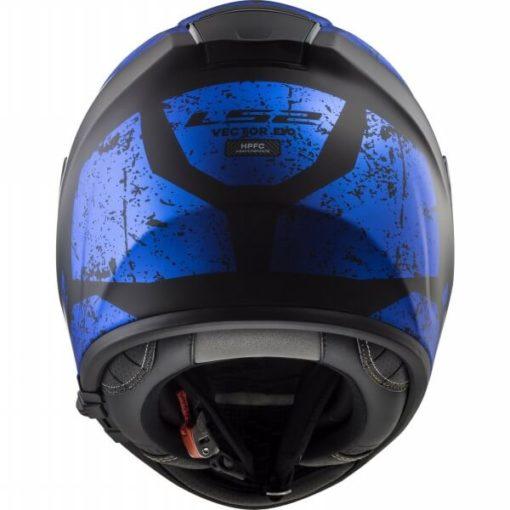 LS2 FF397 CITATION SIGN MATT BLACK BLUE full face helmet back