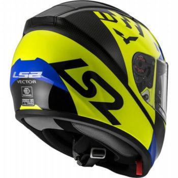 LS2 FF397 Podium Matt Yellow Full Face Helmet back