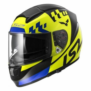 LS2 FF397 Podium Matt Yellow Full Face Helmet side
