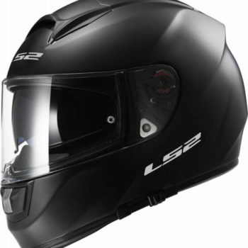 LS2 FF397 SOLID MATT BLACK with BLUETOOTH Full Face Helmet side