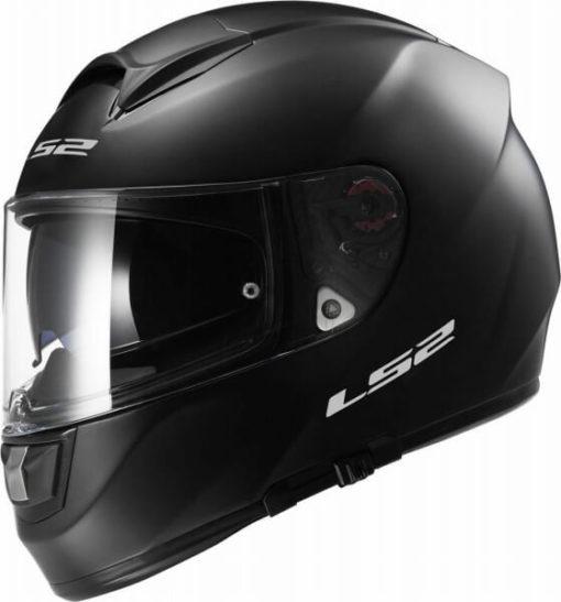 LS2 FF397 SOLID MATT BLACK with BLUETOOTH Full Face Helmet side