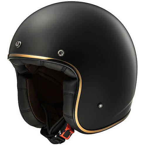 LS2 OF583 SOLID MATT BLACK OPEN FACE HELMET side 2