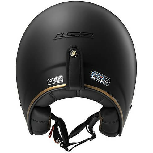 LS2 OF583 SOLID MATT BLACK OPEN FACE HELMETback