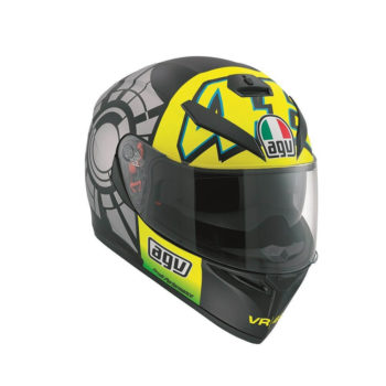 AGV K 3 SV Top Plk Winter Gloss Black Grey Yellow Full Face Helmet