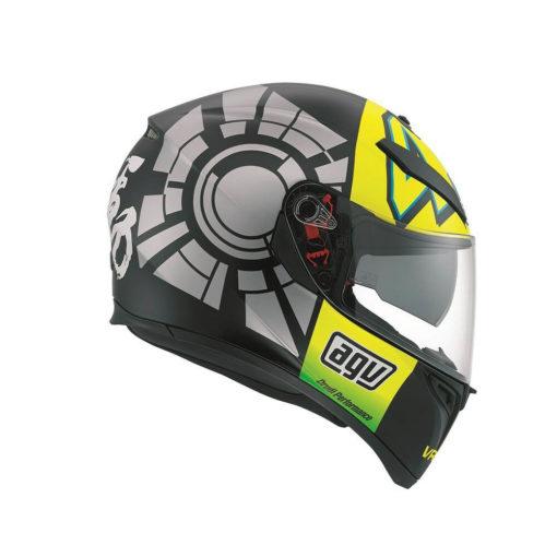 AGV K 3 SV Top Plk Winter Gloss Black Grey Yellow Full Face Helmet1