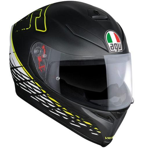 AGV K 5 S Top Matt Black Thorn Plk Full Face Helmet SIDE