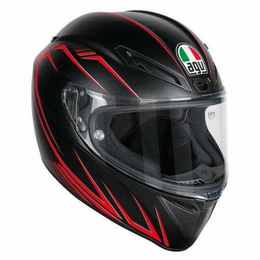 AGV Veloce S Multi PlK Matt Black Red Predatore Full Face Helmet