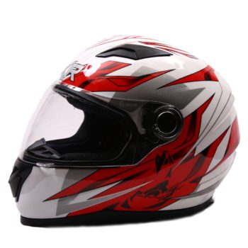 AXR 816 Avalon Gloss White Red Full Face Helmet