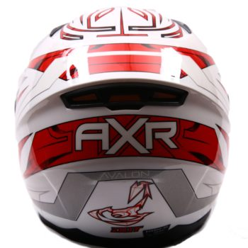 AXR 816 Avalon Gloss White Red Full Face Helmet1