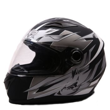 AXR 816 Avalon Matt Black Silver Full Face Helmet