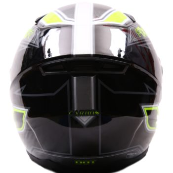 AXR 816 Carbon Gloss Black Grey Fluorescent Yellow Full Face Helmet1