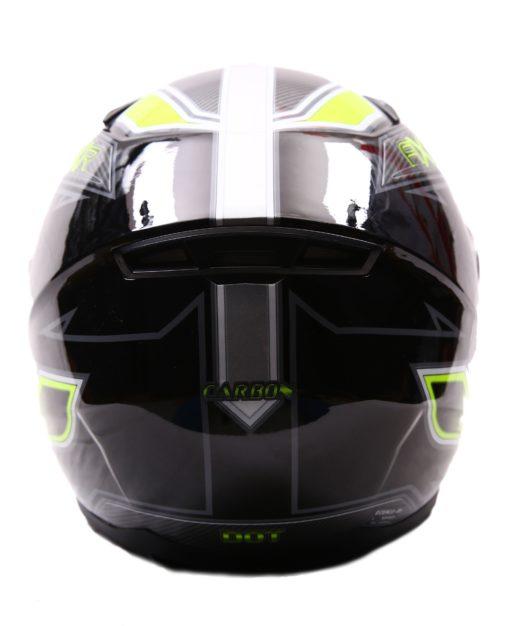 AXR 816 Carbon Gloss Black Grey Fluorescent Yellow Full Face Helmet1