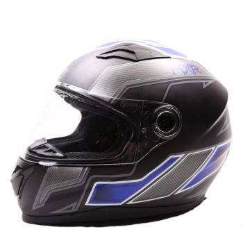 AXR 816 Carbon Matt Black Blue Grey Full Face Helmet