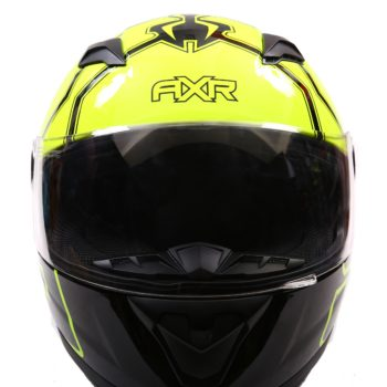 AXR 816 FLY 93 Gloss Black Fluorescent Yellow Full Face Helmet2