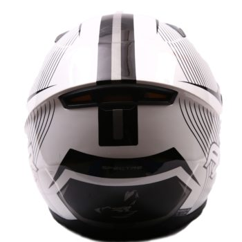 AXR 816 Spectre Gloss Black White Full Face Helmet1