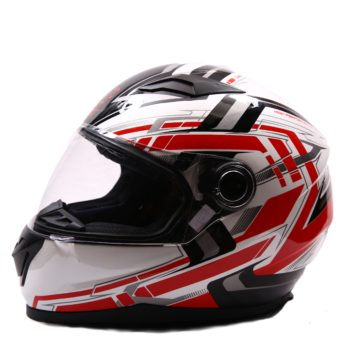 AXR 816 Velocity Gloss White Red Black Full Face Helmet