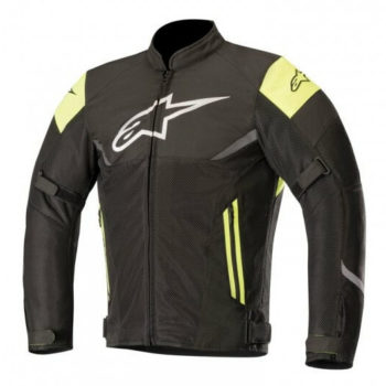 Alpinestars Axel Air Leather Black Fluorescent Yellow Riding Jacket