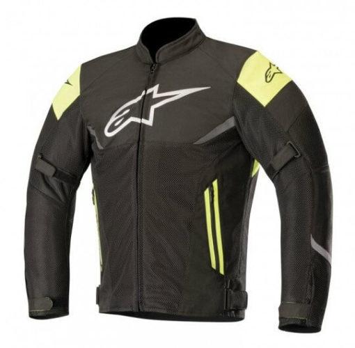 Alpinestars Axel Air Leather Black Fluorescent Yellow Riding Jacket