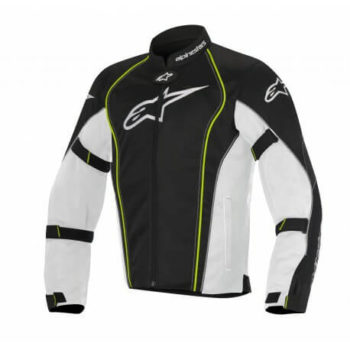 Alpinestars Bonneville Air White Black Fluorescent Yellow Riding Jacket