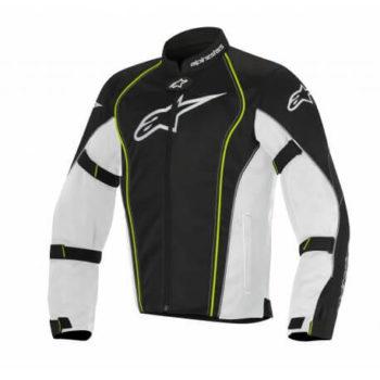 Alpinestars Bonneville Air White Black Fluorescent Yellow Riding Jacket