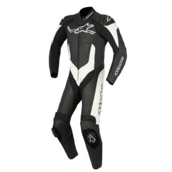 Alpinestars Challenger Leather Black White Suit