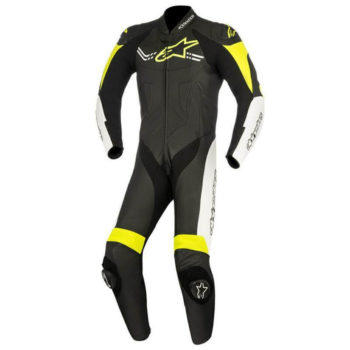 Alpinestars Challenger Leather Black White Yellow Suit