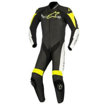 Alpinestars Challenger Leather Black White Yellow Suit