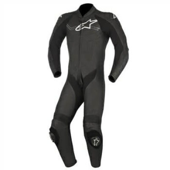 Alpinestars Challenger V2 1PC Black Leather Suit