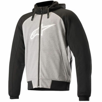 Alpinestars Chrome Sport Hoodie Black Grey Melange