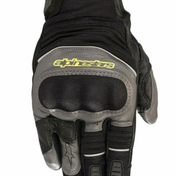 Alpinestars Crosser Air Touring Black Anthracite Fluorescent Yellow Riding Gloves