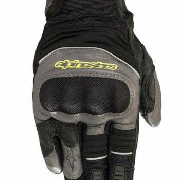 Alpinestars Crosser Air Touring Black Anthracite Fluorescent Yellow Riding Gloves