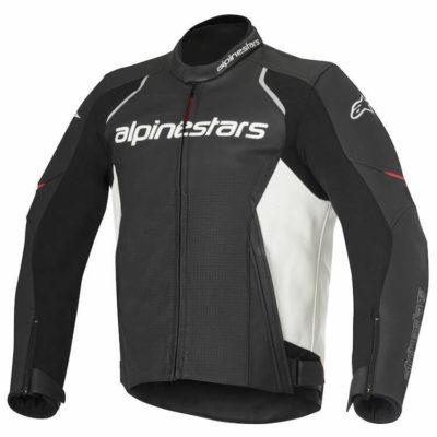 Alpinestars Devon Leather Black White Riding Jacket