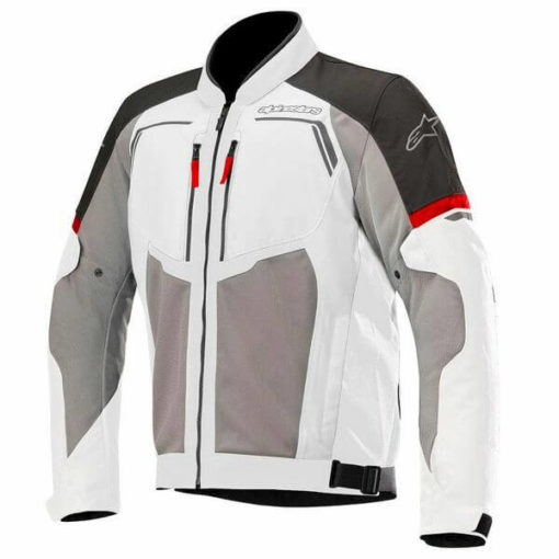 Alpinestars Durango Air Leather Mid Grey Dark Grey Black Red Riding Jacket