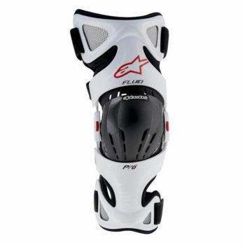 Alpinestars Fluid Pro White Black Red Riding Brace Set
