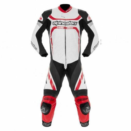 Alpinestars Motegi Leather Black White Suit 2