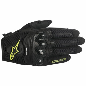 Alpinestars SMX 1 Air Carbon Black Fluorescent Yellow Riding Gloves