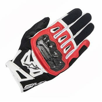 Alpinestars SMX 2 Air Carbon V2 Black Red White Riding Gloves