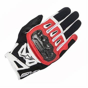 Alpinestars SMX 2 Air Carbon V2 Black Red White Riding Gloves