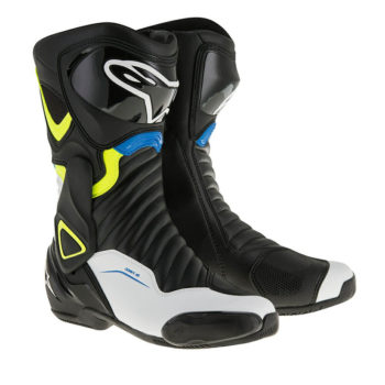Alpinestars SMX 6 V2 Black White Yellow Blue Boots