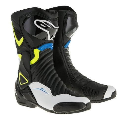 Alpinestars SMX 6 V2 Black White Yellow Blue Boots