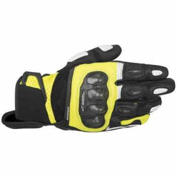 Alpinestars SPX Air Carbon Black Flourescent Yellow Riding Gloves