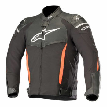 Alpinestars SPX Black Flourescent Red Leather Riding Jackets